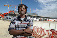 - Senegal worker in the yard of new Milan fair at Rho-Pero....- operaio senegalese nel cantiere della nuova fiera di Milano a Rho-Pero