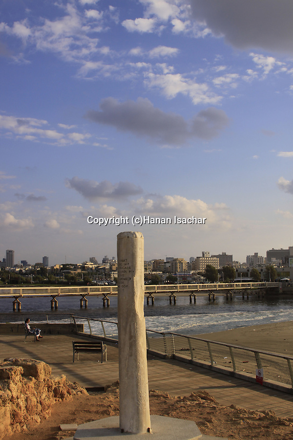 Israel, Tel Aviv-Yafo, Hill's column, a memorial to the British crossing of the Yarkon river in 1917