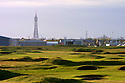 A general view across St Annes Old Links with the iconic Blackpool tower in the background in St Annes, Lancashire, England. Picture Credit / Phil Inglis