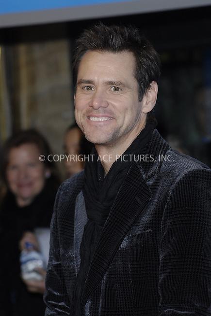 MADRID, SPAIN -.Actor Jim Carrey attend the premiere of 'Yes Man' at Capitol Cinema December 11, 2008 in Madrid, Spain.(C) GWYNPLAINE - ASTUFOTO