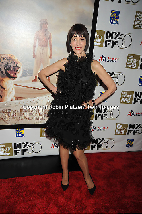 "Ellen Greene in Armani black dress, star of ""Little Shop of Horrors"" attends the 50th Annual New York Film Festival Opening Night Gala presentation of ""Life of Pi"" starring Suraj Sharma and directored by Ang Lee on September 28, 2012 in New York City. The screening was at Alice Tully Hall at Lincoln Center."