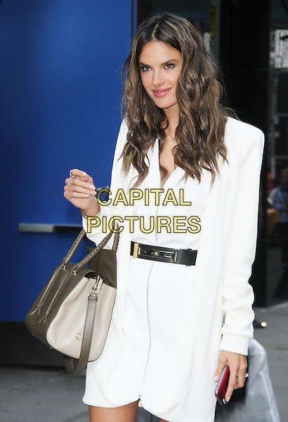 NEW YORK, NY - NOVEMBER 3: Adriana Lima and Alessandra Ambrosio visit ABC's Good Morning America in New York York City on November 3, 2014.  <br /> CAP/MPI/RW<br /> &copy;RW/ MediaPunch/Capital Pictures