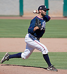 Reno Aces Joe Paterson pitches in the ninth inning against the Tacoma Rainiers during their game played on Sunday afternoon, May 26, 2013 in Reno, Nevada.