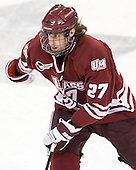Adam Phillips (UMass - 27) - The Boston College Eagles defeated the University of Massachusetts-Amherst Minutemen 3-2 to take their Hockey East Quarterfinal matchup in two games on Saturday, March 10, 2012, at Kelley Rink in Conte Forum in Chestnut Hill, Massachusetts.
