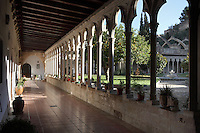 Gothic cloister of the convent of Santa Clara, 1283, Tortosa, Tarragona, Spain