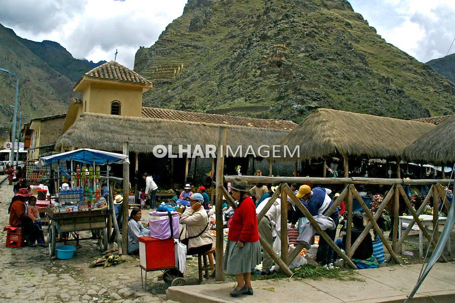 Feira em Ollantaytambo. Peru. 2006. Foto de Flávio Bacellar.