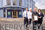 Cahersiveen Credit Union Celebrates 40 years serving the Cahersiveen community and surrounds, pictured here l-r; John Casey, Annette Fitzpatrick, Paddy Cronin(Founding member with the suitcase from where it all began) & Elma Shine-Sugrue-Manager.
