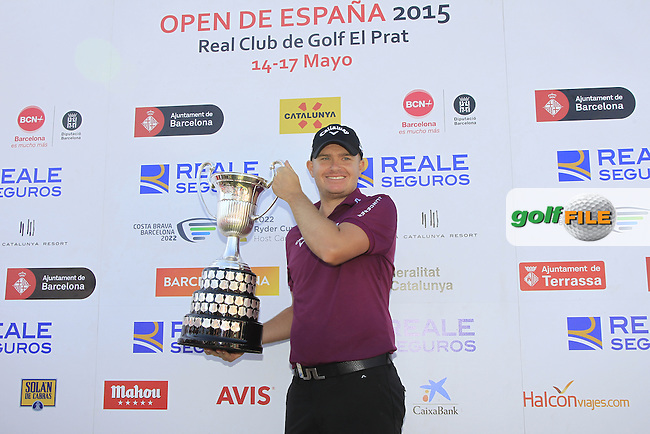 James Morrison (ENG) wins the Open de Espana  in Club de Golf el Prat, Barcelona on Sunday 17th May 2015.<br /> Picture:  Thos Caffrey / www.golffile.ie