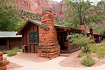 USA Utah, Zion National Park. The Lodge, only lodging in park, and its historic cabins.