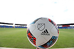 10 January 2016: 2016 adidas Nativo MLS official match ball. The adidas 2016 MLS Player Combine was held on the cricket oval at Central Broward Regional Park in Lauderhill, Florida.