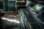 Piano in Hotel S in the Black Forest with old piano