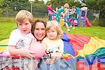 Sheila Brady of Tir na nOg Childcare, Ballinoraig West, Tralee with Tiernan O'Carroll and Odhran Tobin.