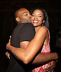Brandon Victor Dixon backstage after 'HAMILTON' dedut