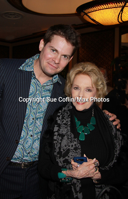 As The World Eileen Fulton poses with special guest Trent Dawson on October 30, 2011 at Feinstein's at Loews Regency, New York City, New York. They sang together and shared stories.  (Photo by Sue Coflin/Max Photos)