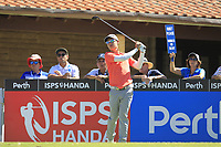 Jazz Janewattananond (THA) in action on the 1st during Round 3 of the ISPS Handa World Super 6 Perth at Lake Karrinyup Country Club on the Saturday 10th February 2018.<br /> Picture:  Thos Caffrey / www.golffile.ie<br /> <br /> All photo usage must carry mandatory copyright credit (&copy; Golffile | Thos Caffrey)