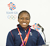 Olympics London 2012<br /> Team GB Pre-competition press conference at Team GB House, Stratford, London, Great Britain <br /> 2nd August 2012 <br /> <br /> Women's Boxing <br /> <br /> <br /> Nicola Adams<br /> Boxer<br /> <br /> <br /> Photograph by Elliott Franks