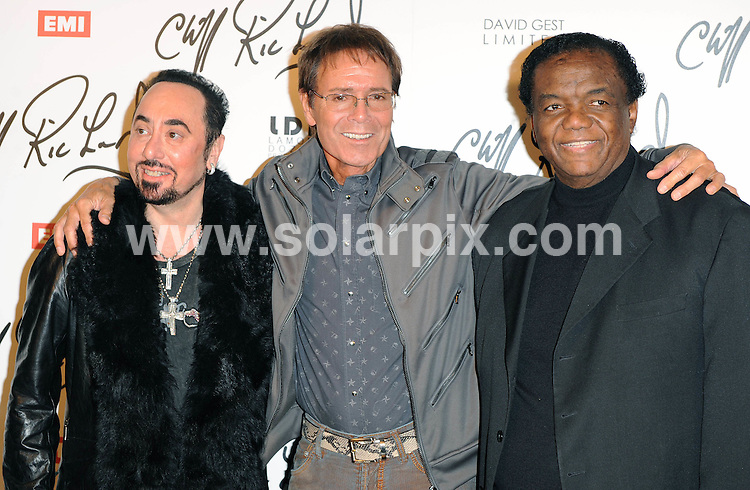 **ALL ROUND PICTURES FROM SOLARPIX.COM**                                             **WORLDWIDE SYNDICATION RIGHTS**                                                                                  Caption: Press Conference at Gilgamesh Restaurant in Camden Town  in London UK                                                                          .This pic: David Gest, Cliff Richard and Lamont Dozier                                                                                     JOB REF:12930        SSD      DATE:07.03.2011                                                            **MUST CREDIT SOLARPIX.COM OR DOUBLE FEE WILL BE CHARGED**                                                                      **MUST AGREE FEE BEFORE ONLINE USAGE**                               **CALL US ON: +34 952 811 768 or LOW RATE FROM UK 0844 617 7637**