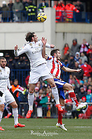 Atletico de Madrid´s Saul and Real Madrid´s Bale