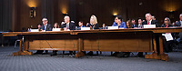 WASHINGTON, DC - NOVEMBER 8:  Congressional hearing on Consumer Data breach.The hearing features testimony from a current and a former official who worked on the response to Yahoo!&iacute;s 2013 data breach, which the company announced only last month affected all 3 billion user accounts, as well as the current and former CEO of Equifax, which suffered a 2017 breach reported to affect approximately 145 million individuals, including sensitive personal and financial information. Also testifying will be a witness with expertise on protecting financial data.<br /> <br /> Witnesses: <br /> <br />   - Mr. Paulino do Rego Barros, Jr., Interim Chief Executive Officer, Equifax, Inc.<br />   - Mr. Richard Smith, Former Chief Executive Officer, Equifax, Inc.<br />   - Ms. Marissa Mayer, Former Chief Executive Officer, Yahoo!, Inc.<br />   - Ms. Karen Zacharia, Deputy General Counsel and Chief Privacy Officer, Verizon Communications, Inc. (parent company of Yahoo! since 2017)<br />   - Mr. Todd Wilkinson, President and Chief Executive Officer, Entrust Datacard Corp.<br /> <br /> Credit: Patsy Lynch/MediaPunch