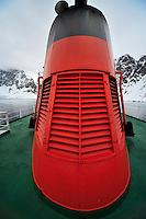 Winterized Dalek - Cruising through the narrow Lemaire Channel.  For Dr Who fans.