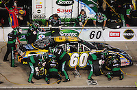 May 1, 2009; Richmond, VA, USA; NASCAR Nationwide Series driver Carl Edwards pits during the Lipton Tea 250 at the Richmond International Raceway. Mandatory Credit: Mark J. Rebilas-
