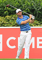 Paul Casey (ENG) on the 5th tee during Round 3 of the CIMB Classic in the Kuala Lumpur Golf & Country Club on Saturday 1st November 2014.<br /> Picture:  Thos Caffrey / www.golffile.ie