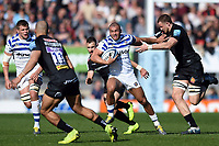 Jonathan Joseph of Bath Rugby takes on the Exeter Chiefs defence. Gallagher Premiership match, between Exeter Chiefs and Bath Rugby on March 24, 2019 at Sandy Park in Exeter, England. Photo by: Patrick Khachfe / Onside Images