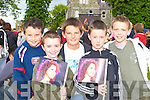 Gary O'Connor, Rory Aherne, Michael Shannon, Peter O'Donoghue and Con Heffernan having fun at the Jessie Buckley homecoming in St Mary's Cathedral field Killarney on Friday    Copyright Kerry's Eye 2008