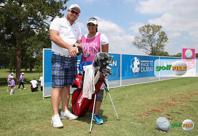 Merrick Bremner (RSA) with wife Poveshnie on the bag for the week, during the preview days of the 2016 Tshwane Open, played at the Pretoria Country Club, Waterkloof, Pretoria, South Africa.  09/02/2016. Picture: Golffile | David Lloyd<br /> <br /> All photos usage must carry mandatory copyright credit (&copy; Golffile | David Lloyd)