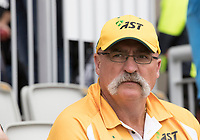 Merv Hughes at Old Trafford for the first semi final during India vs New Zealand, ICC World Cup Semi-Final Cricket at Old Trafford on 9th July 2019