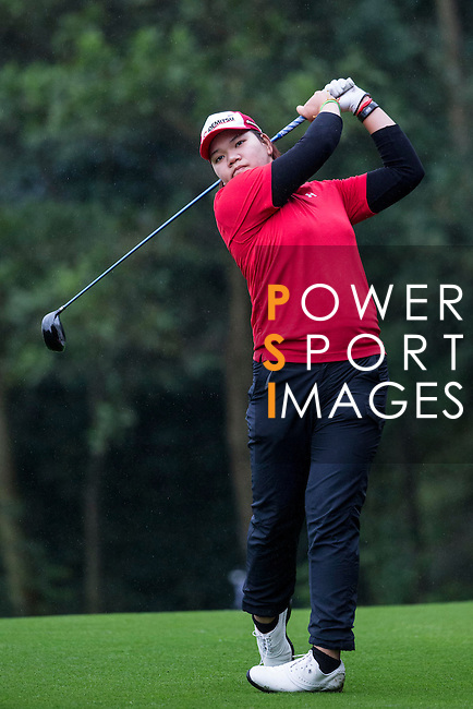 Wichanee Meecham of Thailand tees off at the 14th hole during Round 1 of the World Ladies Championship 2016 on 10 March 2016 at Mission Hills Olazabal Golf Course in Dongguan, China. Photo by Victor Fraile / Power Sport Images