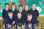 CENTRAL: Junior Infants who stated school at Ballyduff Central NS on Monday. Front l-r: Muiris O'Connor,Shane Griffin and Cillian Lucid Boyle. Back l-r: Laura Dineen, Louise O'Neill, Dean Allen, Emma Cronin and Tom McDonagh.... ....