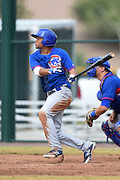Chicago Cubs outfielder Charcer Burks (24) during an Instructional League intersquad game on October 9, 2014 at Cubs Park Complex in Mesa, Arizona.  (Mike Janes/Four Seam Images)