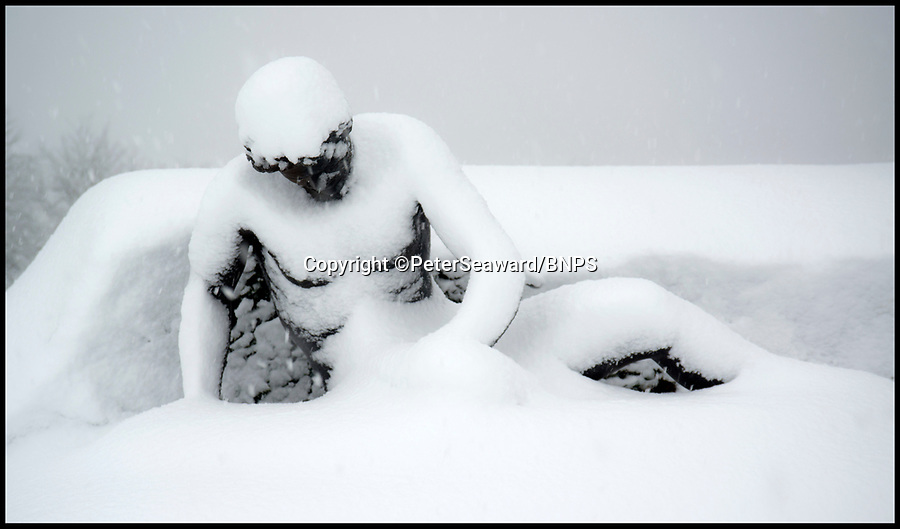 BNPS.co.uk (01202 558833)Pic: PeterSeaward/BNPS<br /> <br /> Pompei or Oxfordshire...<br /> <br /> Classical snowstorm - Photographer Peter Seaward captured thses classic shots of the snow storm at Blenheim Palace in Oxfordshire yesterday.