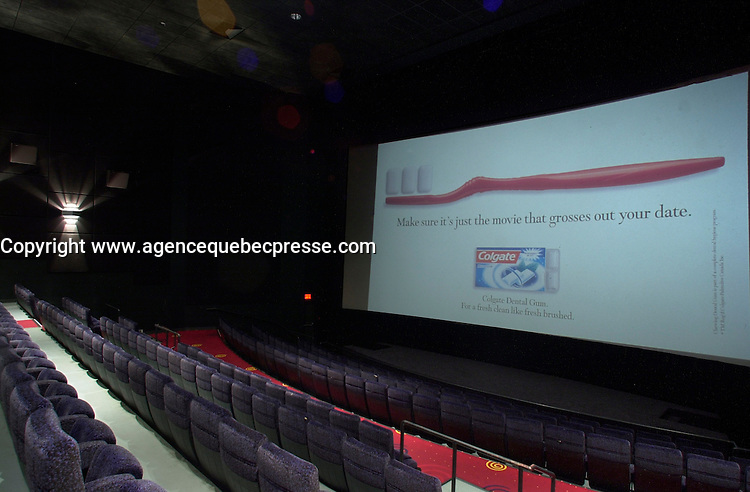 Aug 2002, Montreal, Quebec, Canada<br /> <br /> Paramount Cinema, in  Montreal, Quebec, Canada<br /> <br /> <br /> Mandatory Credit: Photo by Pierre Roussel- Images Distribution. (&copy;) Copyright 2002 by Pierre Roussel <br /> <br /> NOTE : <br />  Nikon D-1 jpeg opened with Qimage icc profile, saved in Adobe 1998 RGB<br /> .Uncompressed  Uncropped  Original  size  file availble on request.
