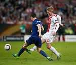 Matthijs de Ligt of Ajax in action with Ander Herrera of Manchester United during the UEFA Europa League Final match at the Friends Arena, Stockholm. Picture date: May 24th, 2017.Picture credit should read: Matt McNulty/Sportimage