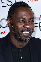 "HOLLYWOOD, CA - NOVEMBER 10: Actor Idris Elba arrives at the AFI FEST 2013 - Premiere Of The Weinstein Company's ""Mandela: Long Walk To Freedom"" held at the Egyptian Theatre on November 10, 2013 in Hollywood, California. (Photo by Xavier Collin/Celebrity Monitor)"