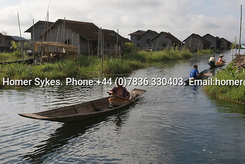 Inle Lake. Myanmar (Burma.) 2006. Typical village scene.