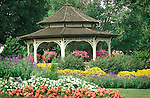 Gazebo with flower garden, Selinsgrove, Pennsylvania