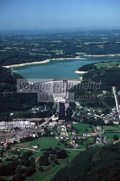 Europe/France/19/Corrèze/Bort-les-Orgues: Le Barrage - Vue aérienne