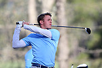 KANNAPOLIS, NC - APRIL 09: North Carolina's William Register tees off on the 10th hole. The third round of the Irish Creek Intercollegiate Men's Golf Tournament was held on April 9, 2017, at the The Club at Irish Creek in Kannapolis, NC.
