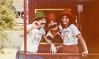 D.B.'s Delight goes 'on location' at Six Flags over Mid-America ... with Host Bobby Day, D.B. Doorbell (aka Bobby Miller) and a young fan ...