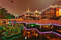 Yuyuan Gardens at night, Shanghai, China