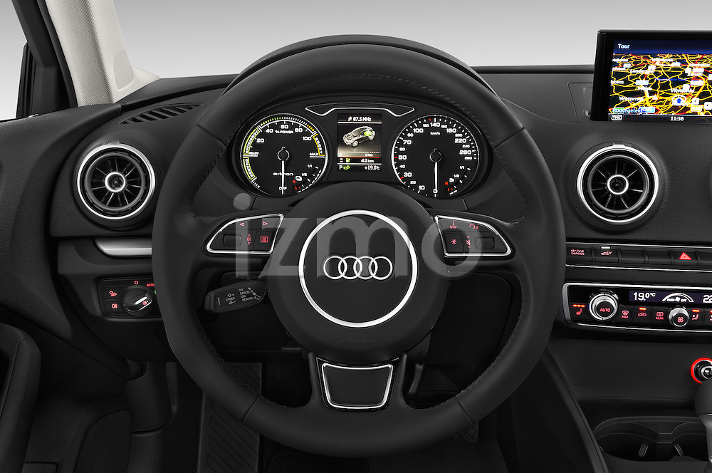 Car pictures of steering wheel view of a 2015 Audi A3 Ambiente 5 Door Hatchback 2WD Steering Wheel