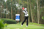 Yi-Chen Liu of Chinse Taipei tees off during the 2011 Faldo Series Asia Grand Final on the Faldo Course at Mission Hills Golf Club in Shenzhen, China. Photo by Raf Sanchez / Faldo Series