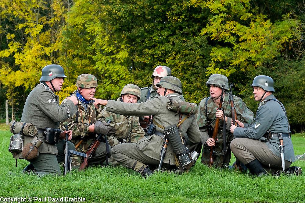 German Troops take part in ww2 Battle reenactment