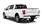 Car pictures of rear three quarter view of 2017 Ford F-150 Limited-SuperCrew 4 Door Pickup Angular Rear
