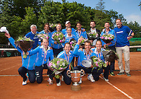 09-06-13, Tennis, Netherlands,The Hague, Playoffs Competition, The winners team the Lobbelaer.