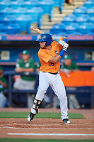 St. Lucie Mets first baseman Jeremy Vasquez (16) at bat during a game against the Daytona Tortugas on August 3, 2018 at First Data Field in Port St. Lucie, Florida.  Daytona defeated St. Lucie 3-2.  (Mike Janes/Four Seam Images)