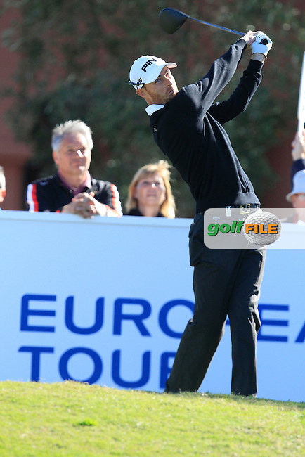 Rys Davies (WAL) during Round 2 of the NH Collection Open at the La Reserva de Sotogrande Club de Golf in Cadiz Spain on Friday 4th April 2014<br /> Picture:  Thos Caffrey / www.golffile.ie